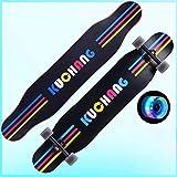 YSCYLY Planche De Skate,Planche de Danse Professionnelle Longboard Road,pour ÉQuipe, DéButants - Plate-Forme Skateboard Double Kick Trick