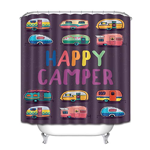 123456789 Happy Camper douchegordijn set badaccessoires 71