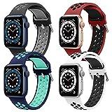 Hatolove Compatible con Apple Watch Correa 38mm 42mm 40mm 44mm, Deportivas de Silicona Suave Correas de Repuesto Compatible con Apple Watch SE / iWatch Series 6 5 4 3 2 1