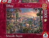 Schmidt Spiele Thomas Kinkade Disney-Puzzle (1000 Piezas), diseño de Susi y Strolch, Color carbón, 69,3x49,3cm (59490)