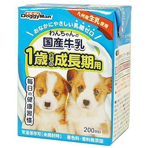 スマートマットライト ドギーマン わんちゃんの国産牛乳 1歳までの成長期用 200ml×24個 (ケース販売)