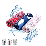 Kühlhandtuch cool towel, microfaser handtücher set, fitness handtuch, sporthandtuch, fitnesshandtuch, cool down towel kühlendes handtuch, Für Fitness Gym Golf Yoga, 3 PACK (Tropical beach plant style)