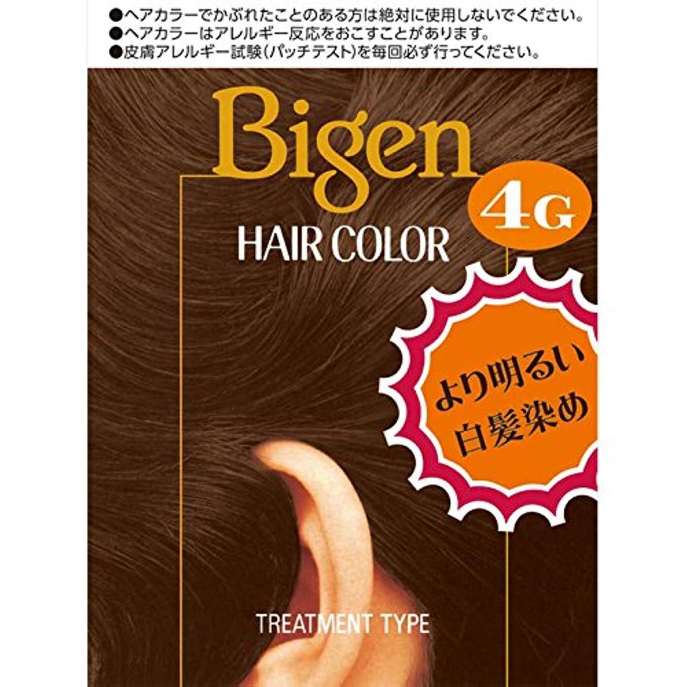 暴力的な放出思春期のホーユー ビゲン ヘアカラー 4G 自然な栗色 40ml×2 (医薬部外品)