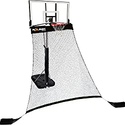 Rolbak Silver Basketball Return Net with 2 Refillable Sand Bags