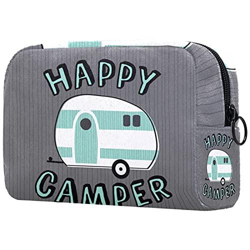 Bolsa de cosméticos para Mujer, Bolsas de Maquillaje, Neceser de Viaje, Organizador de Accesorios, edredones Happy campr