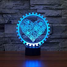 3D Night Light Dinosaur 3D LED Light in AJE Love USB Night Light with Heart Steampunk Style Lamp Gift Home Decor Luminaire