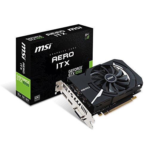 MSI V809-2456R GeForce GTX 1050 AERO ITX 2G OCV1 Grafikkarte schwarz