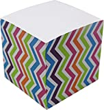 4A Memo Cube,3 1/4 Inches,Wave Patterned Printed On The Four Sides, About 650 Sheets/Cube,1 Cube/Pack,4A MC 434