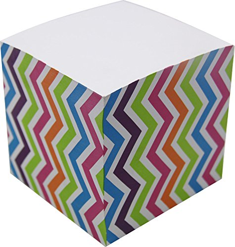 4A Memo Cube,3 1/4 Inches,Wave Patterned On The Sides,About 650 Sheets/Cube,1 Cube/Pack,4A MC 434