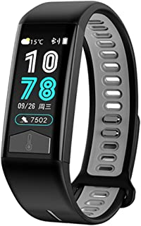 Peodelk T02 Smart Bracelet Unisex Body Temperature ECG+PPG Activity Tracker Watch with Heart Rate Blood Pressure Blood Oxygen,Sleep Monitoring Health Pedometer Watch for Android iOS