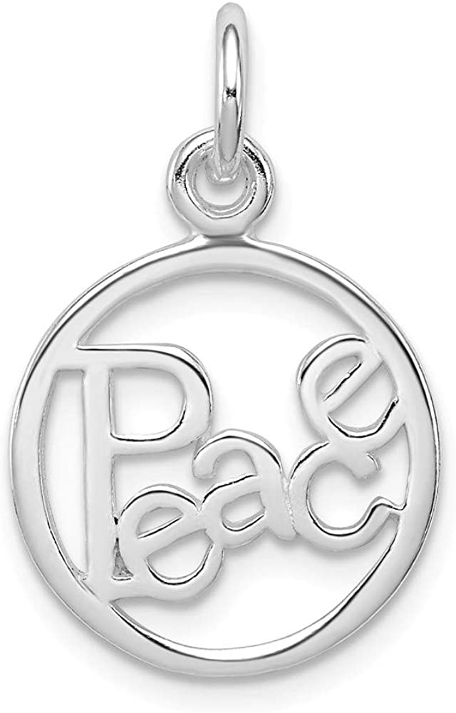 925 Sterling Selling and selling Silver Peace Max 71% OFF Circle Jew Charm Fine Pendant Necklace
