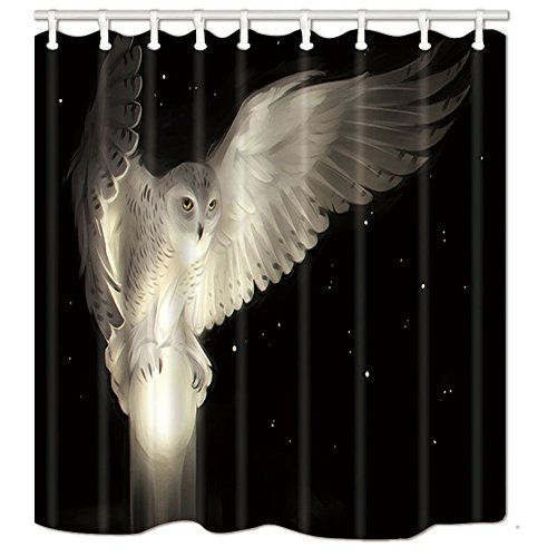 Snow White Owl Shower Curtain