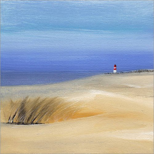 Posterlounge Acrylglasbild 70 x 70 cm: Nordsee von Vittorio Vitale - Wandbild, Acryl Glasbild, Druck auf Acryl Glas Bild