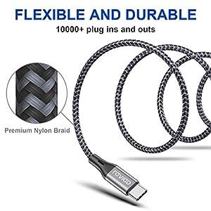 Cable USB Tipo C, RAVIAD Cable USB C a USB 3.0 Cable Tipo C Carga Rápida y Sincronización Compatible con Galaxy S10/S9/S8/Note 10, Huawei P30/P20, Xiaomi Mi A1/Mi A2 y más - 1M, Gris