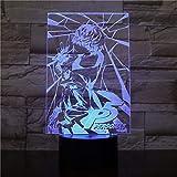 RPG P Persona japonesa Akira Kurusu Figura USB 3D LED Luz de noche Decoración Niños Niños Niños Regalos para niños Lámpara de mesa