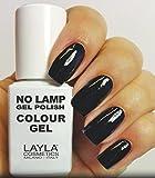 Layla Cosmetics Milano no Lamp Gel Polish Smalto per unghie Carbon Black