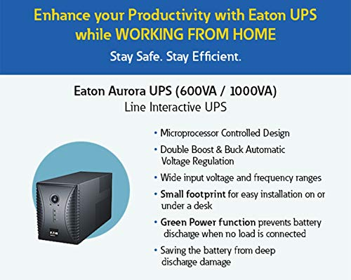 Eaton Aurora 600 VA Line Interactive UPS for Computer