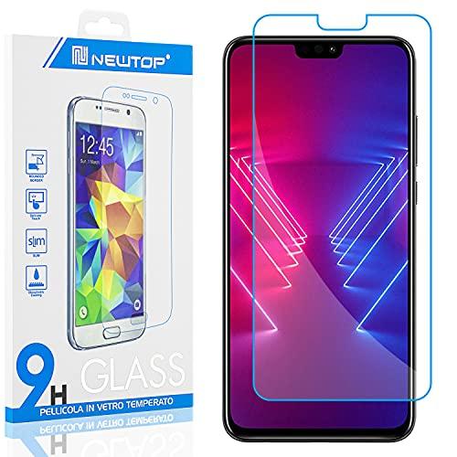 N NEWTOP [1 PEZZO] Pellicola GLASS FILM Compatibile con Huawei Honor View 10 Lite, Fina 0.3mm Durezza 9H Vetro Temperato Proteggi Schermo Display Protettiva Anti Urto Graffio Protezione
