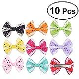 FRCOLOR 10 Stücke Baby Haarklammern Haarschleife Haarclips Set mit Schleife für Kleinkinder Mädchen