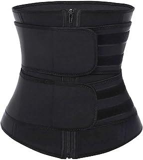 قابل للتعديل النساء ملابس داخلية النمذجة حزام الخصر المدرب اللياقة البدنية حزام حزام تنفس (Color : Black, Size : 6XL)