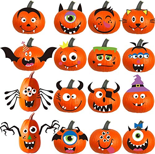 FINGOOO Foam Pumpkin Decorations Craft Kit for Halloween and Party, 32...