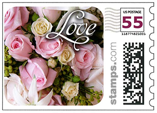 USPS Love Wedding Roses Stamps - Sheet of 20 - Like Forever Stamps