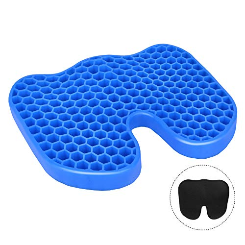 Leader Accessories Orthopedic Seat Cushion,Cooling Honeycomb Gel Seat Pads for Coccyx Sciatica Hemorrhoid Tailbone Back Pain Relief,for Office Chairs, Wheelchair, Kitchen Chairs, Car Seats