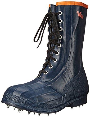 Viking Footwear Spiked Forester Caulk Boot, Black/Orange, 13 M US