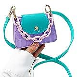 QIANJINGCQ Moda fresca macaron hit color jelly bag bolsa de mensajero dulce y...