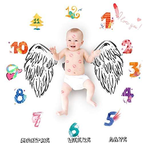ala Manta de Fondo Alfombra Foto fotografía Crecimiento mensual Milestone Fondo del paño Calendario 100cm x 100cm