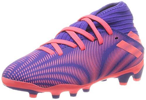 adidas Nemeziz 19.3 MG Niño, Bota de fútbol, Energy Ink-Signal Pink-Signal Green, Talla 5.5 UK (38 2/3 EU)