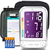 1byone Bluetooth Blood Pressure Monitor with Cuff for Home Use, Digital BP Monitor Upper Arm Pressure Machine, 120 Groups Memory, 4.7 inch Display, Cloud Storage, Batteries Included