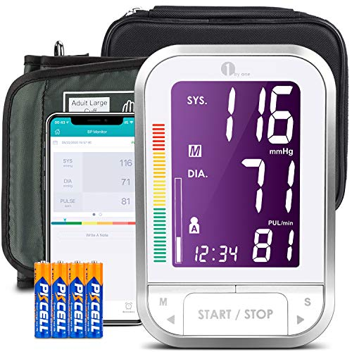 1byone Bluetooth Blood Pressure Monitor with Cuff for Home Use, Automatic...