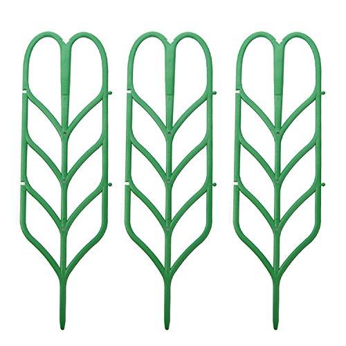 Migavenn 3 pcs Mini DIY Feuille Forme Jardin Treillis Plantes Treillis Pots Supports pour Escalade Plantes En Pot Vignes Lierre Concombres