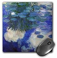 3drose印刷のMonet Painting Water Liliesライラック–マウスパッド、8× 8インチ( MP _ 203691_ 1)