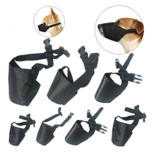 CooZero 7 PCS Anti-biting Barking Pet Muzzle