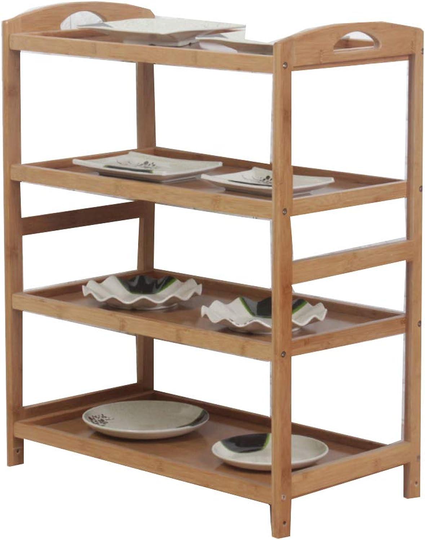 Kitchen Storage Shelf, 4-Layer Rack Restaurant Living Room Bedroom Office -B