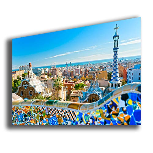 quadri moderni soggiorno parigi Quadro Moderno Città - Quadri Moderni 70x100 cm stampa su tela Arredamento Arredo Arte Design Soggiorno Camera da letto Cucina NEW YORK LONDRA ROMA FIRENZE MILANO NAPOLI PARIGI (Barcellona)