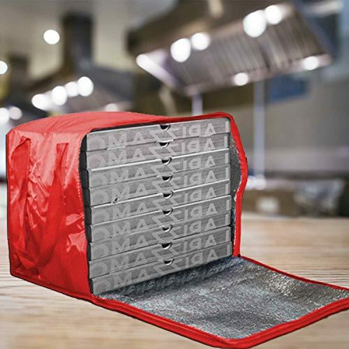 REPLOOD Zaino Borsa Termica Portapizza Porta Pizza da Asporto Chiusura a Zip Rosso o Blu capacità 43 Litri 40x32x32 cm