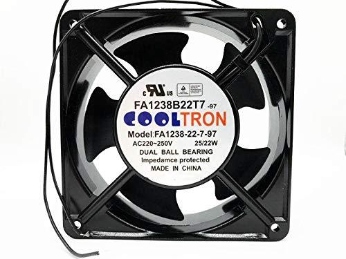 FA1238-22-7-97 COOLTRON 220-250V AC Cooling Fan, FA1238B22T7-97 25/22W 120MM×38MM Cabinet Fan