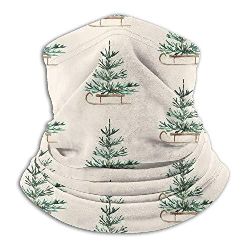Pasamontañas para viajes de Navidad, color crema, resistente al viento, para esquí M-Ask invierno, con capucha térmica de forro polar, para hombres y mujeres