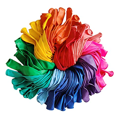 100pcs Latex Balloons, 12inch Multicolor to Celebrate Latex Balloons, Premium Thick Balloons for...