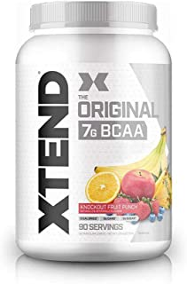 XTEND Original BCAA Powder Knockout Fruit Punch | Sugar Free Post Workout Muscle Recovery Drink with Amino Acids | 7g BCAA...