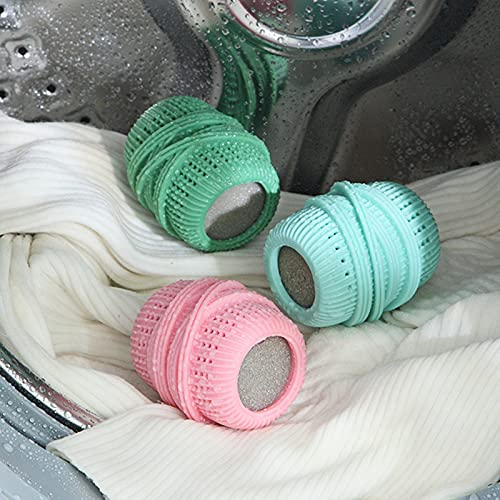 3 Palla Per Bucato, Sfere Per Rondella, Palla Per La Pulizia Dei Vestiti Della Lavatrice, Anti-groviglio E Anti-annodamento, Potente Decontaminazione, Per Lavare I Vestiti, Laundry Balls (3 Colori)