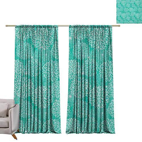 Isolerende verduisteringsgordijnen gordijnen Thermische geïsoleerde panelen huisdecoratie Daffodil, gemengde planten en wilde bloemen bloeit patroon Tulpen Daffodil Eindeloze romantische bloemenkunst Multi