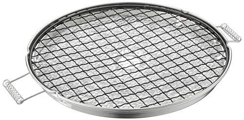 竹原製缶(TAKECAN) 焼き網 ブラック 22X22X1.8cm ふっくらもち焼きアミ 丸 CF-8