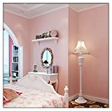 HaokHome 119 高品質の不織布無地の壁紙ホームベッドルームキッチンバスルームの壁の装飾のための繊維テクスチャウォールペーパー 53cm×10m(ピンク)
