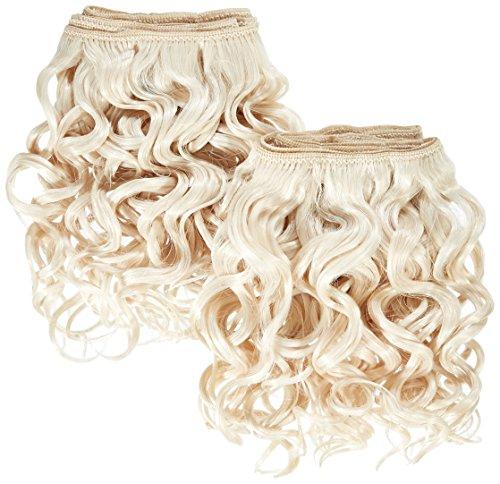 chear espagnol Wave 2 en 1 trame Extension de cheveux humains avec Premium tissage mélange blond clair Numéro 613, 20 cm