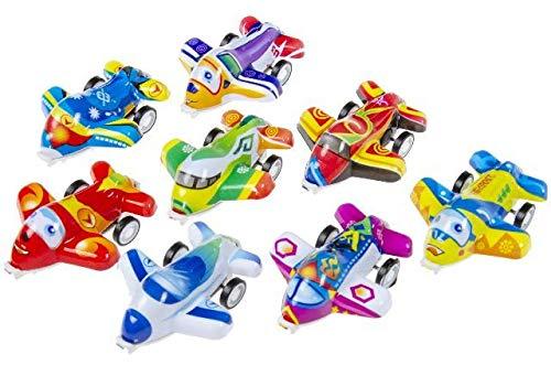 Schnooridoo 12 kolorowych samolotów ze zwrotem, lotnisko lotnisko, upominek, urodziny dziecka
