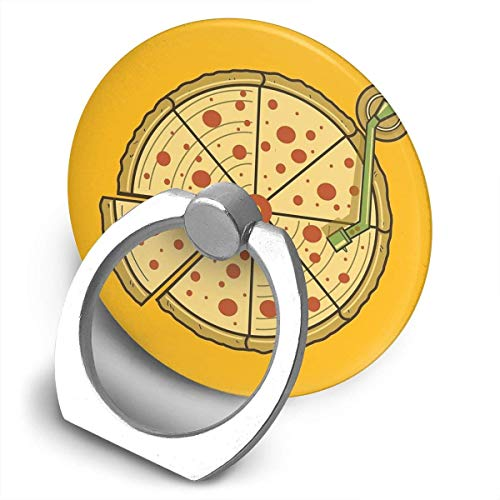 ARRISLIFE Pizza Vinyl Soporte para teléfono,Round-Shaped Soporte para Anillo de teléfono Celular,360 Degrees Rotating Soporte de Metal